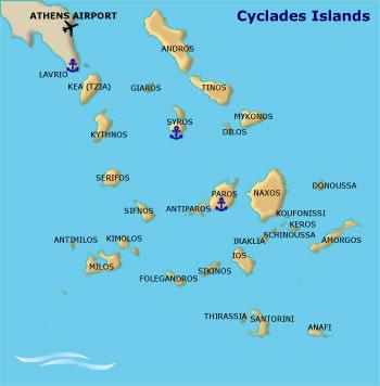 greek itineraries cyclades