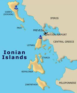 greek itineraries ionian islands